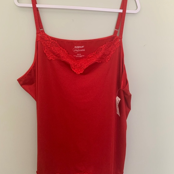 Avenue Tops - Red shimmer cami 30/32 by Avenue